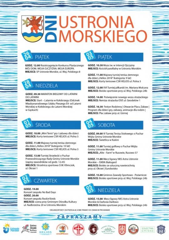 Noclegi Ustronie Morskie | Program Dni Ustronia Morskiego 2019