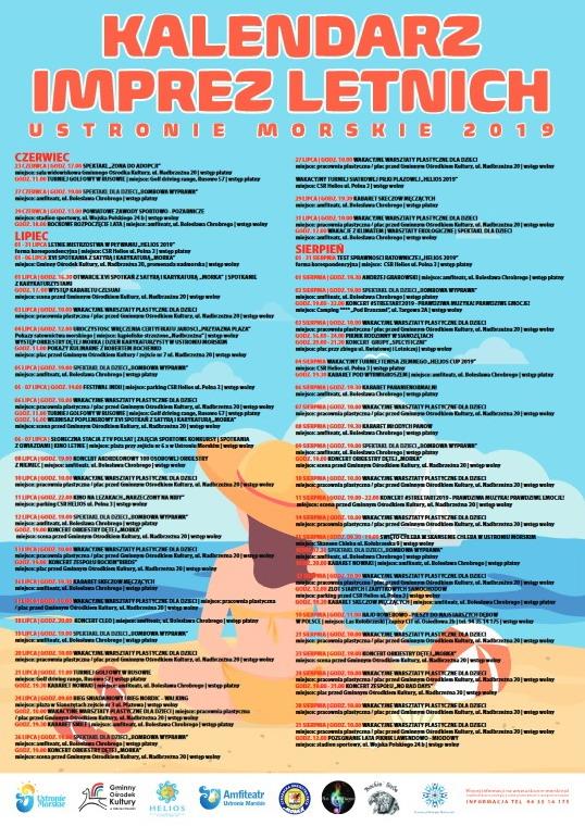 Ustronie Morskie- Program imprez letnich 2019